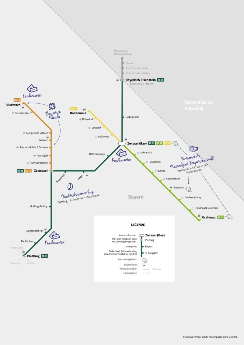 Streckennetz 2020 WBA