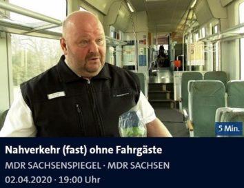 Die Länderbahn im MDR Sachsenspiegel vom 02.04.2020