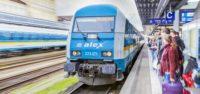 Der alex bei der Einfahrt in Regensburg Hauptbahnhof