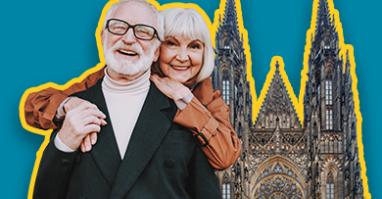 Pärchen das eine romantische Auszeit beim Paarwochenende in Prag erlebt