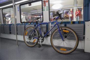 Abstellposition des Fahrrads im alex
