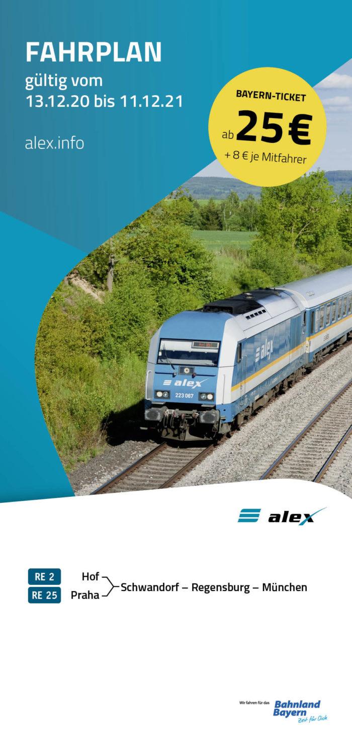 Fahrplanbroschüre alex |  gültig 13.12.2020  - 11.12.2021  (Art.-Nr. 34-76270)