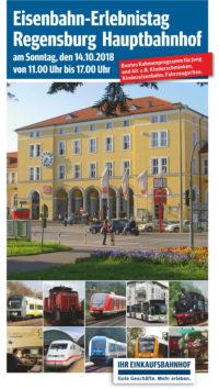 Eisenbahn-Erlebnistag am Hauptbahnhof in Regensburg am 14. Oktober von 11 bis 17 Uhr