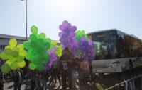 """Bunte Ballons steigen zum Start des  """"Vogtlandnetz 2019+"""" in den Himmel"""