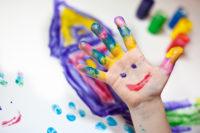 Malen für die Kinderecke in der waldbahn