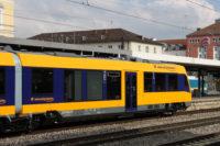 Neues Fahrzeug der oberpfalzbahn heute zum ersten Mal im Fahrgastbetrieb