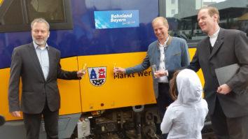 oberpfalzbahn erhält feierliche Zugtaufe auf Wernberg-Köblitz