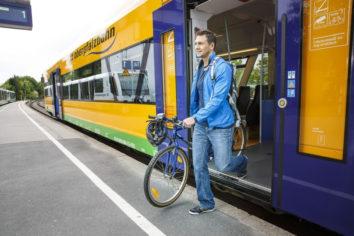 Ab sofort ganzjährig kostenlose Fahrradmitnahme in der oberpfalzbahn und im alex im Landkreis Cham