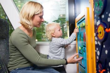 Kinderfreundliche Waldbahn