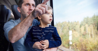 Kinderspielecke in der oberpfalzbahn