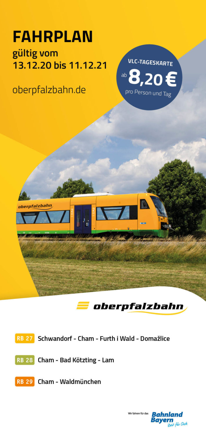 Fahrplan RB27 | RB28 | RB29  Chamer Netz | gültig 13.12.2020 - 11.12.2021 (Art.-Nr. 34-76311)