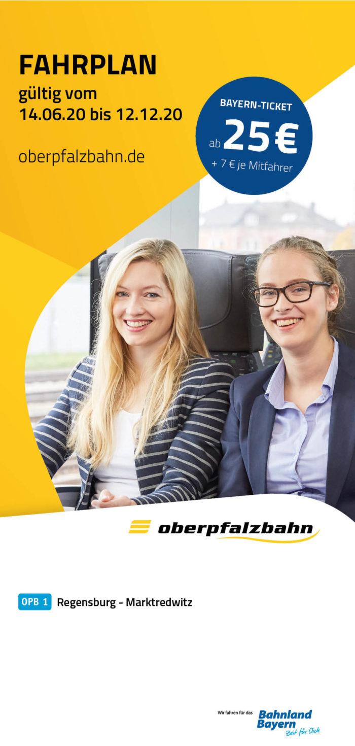 Fahrplan OPB 1 Marktredwitz - Regensburg | gültig 14.06.2020 - 12.12.2020 (Art.-Nr. 34-69609)