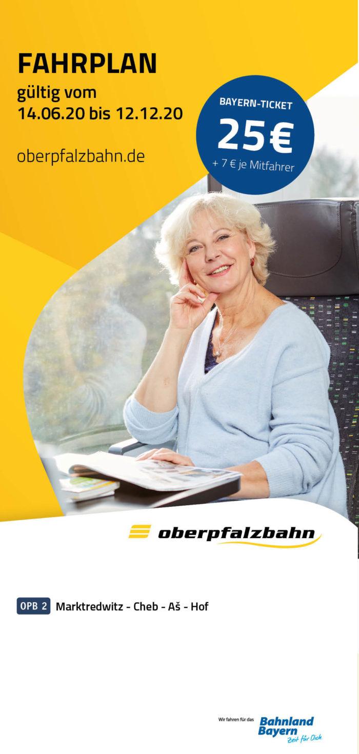Fahrplan OPB 2 Marktredwitz - Cheb - As - Hof | gültig 14.06.2020 - 12.12.2020 (Art.-Nr. 34-70511)