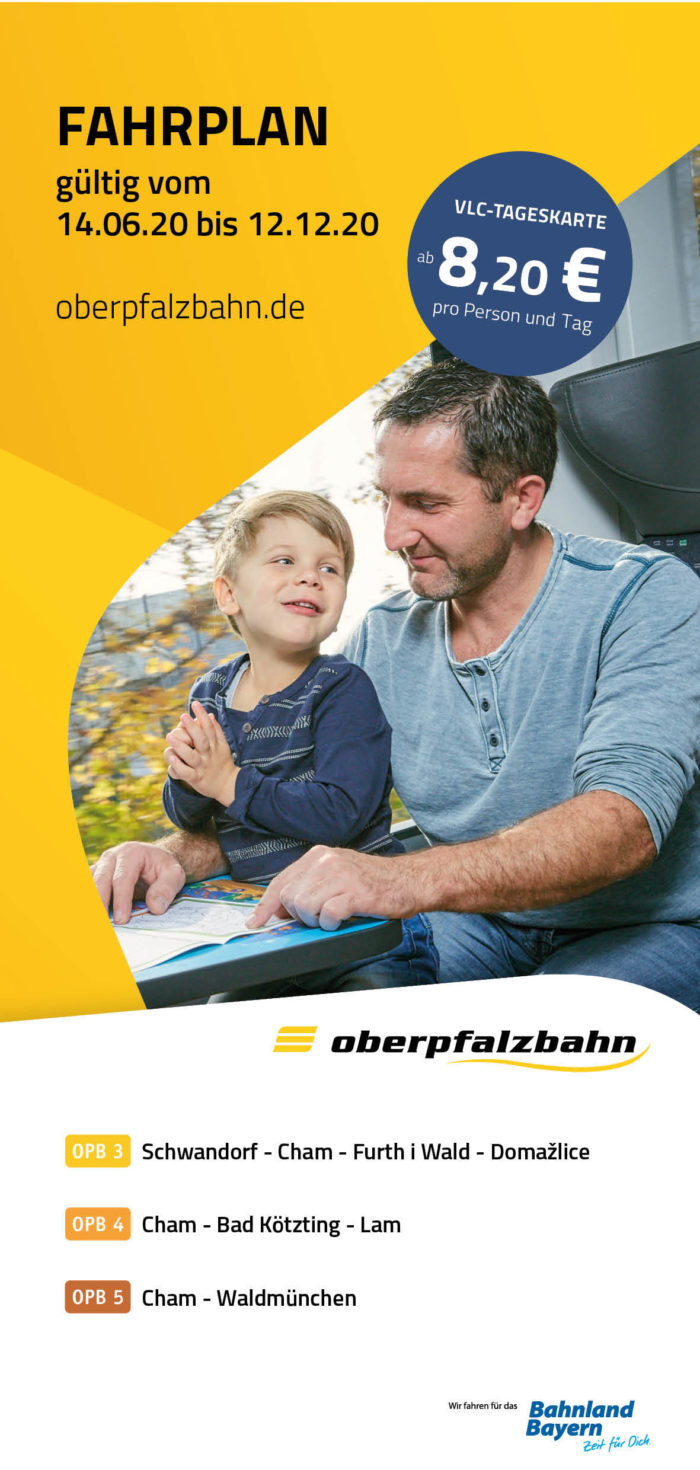 Fahrplan OPB 3+4+5  Chamer Netz | gültig 14.06.2020 - 12.12.2020 (Art.-Nr. 34-69764)
