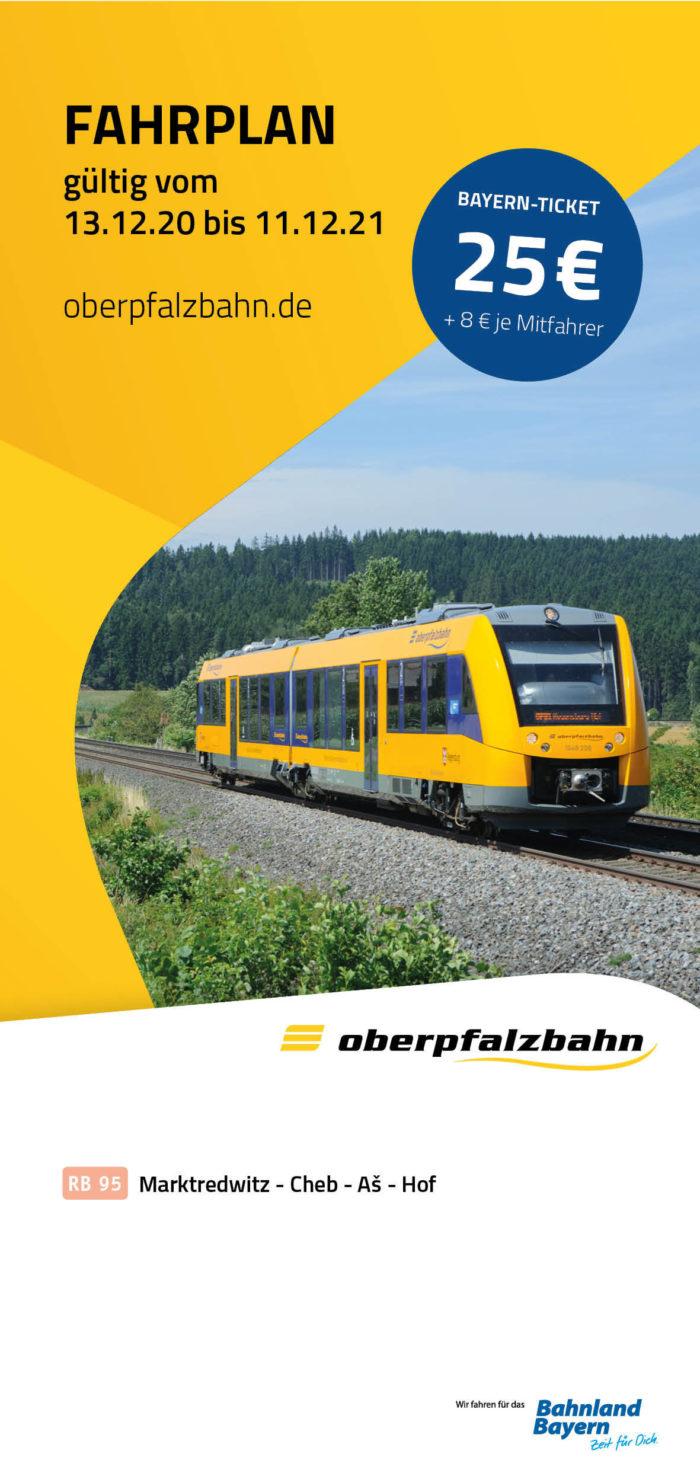 Fahrplan RB95 Marktredwitz - Cheb - As - Hof | gültig 13.12.2020 - 11.12.2021 (Art.-Nr. 34-76310)
