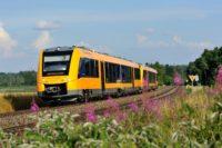 Der Triebwagen der oberpfalzbahn Baureihe Lint41