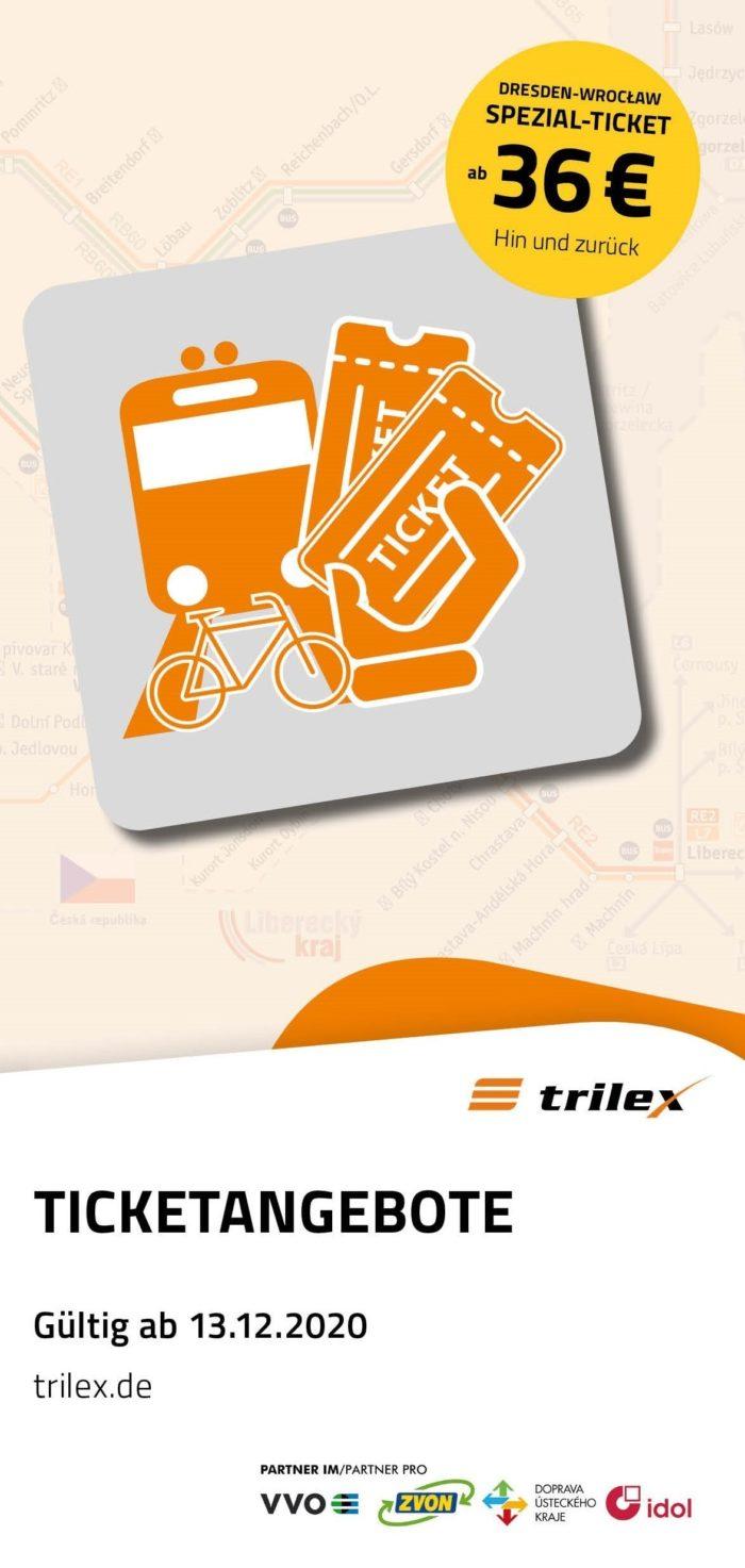 Flyer: Trilex-Ticketangebote  |  Stand: Dezember 2020