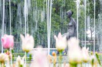 Springbrunnen und Skulptur egapark
