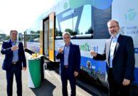 Präsentation des VOGLAR Regio-Shuttle durch Rolf Keil, Michael Barth und Wolfgang Pollety