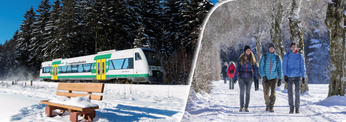 Winterwanderungen mit der Vogtlandbahn