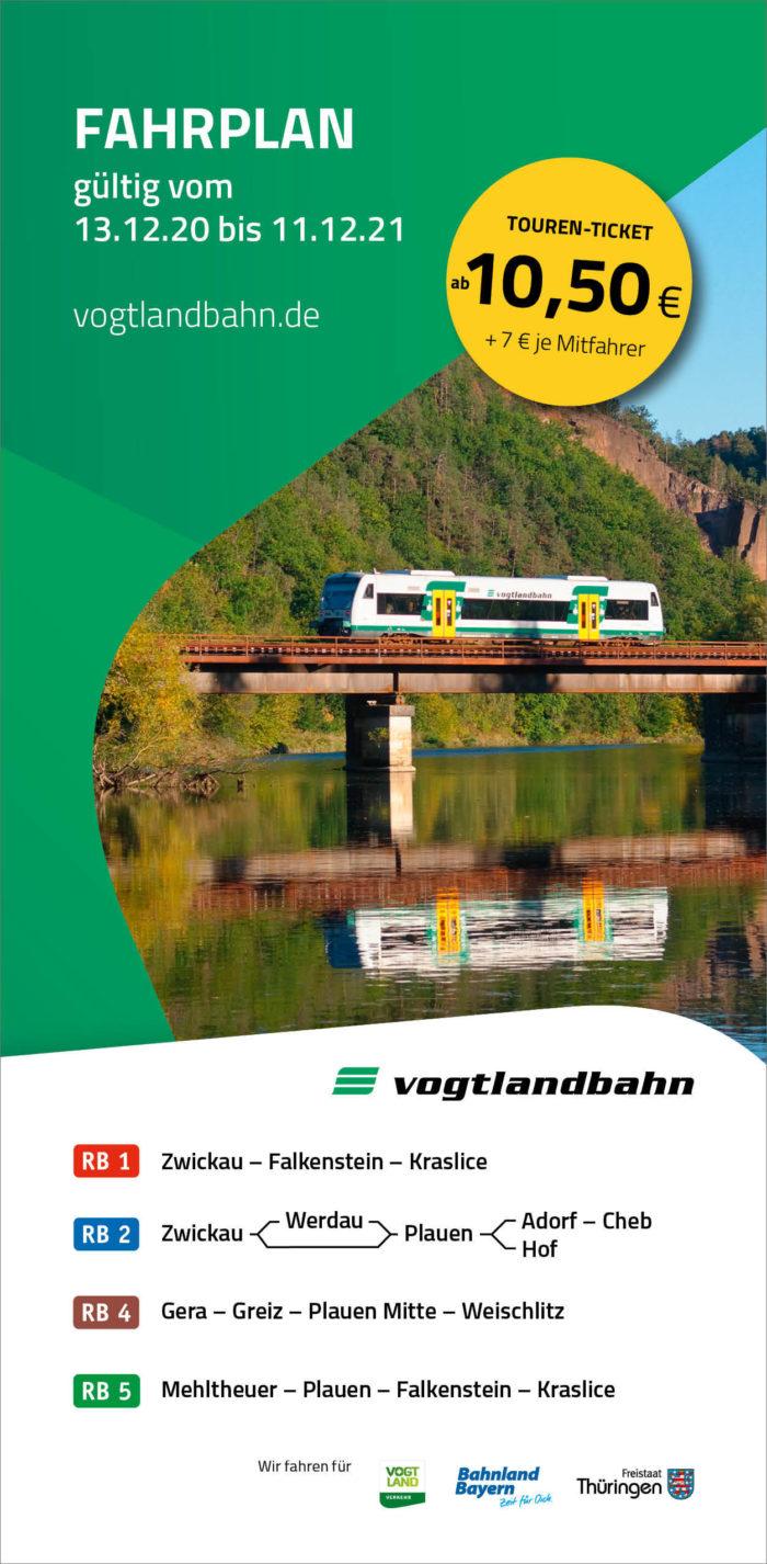 Fahrplanbroschüre Vogtlandbahn | gültig ab 13.12.2020