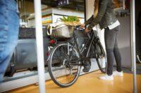 Im Mehrzweckbereich kann man sein Fahrrad sehr gut sichern.