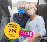 So günstig wie noch nie - Senioren-Monatskarte für 10 Euro!