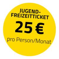 Der Stempel für das Jugend-Freizeitticket, es kostet pro Monat 25 Euro und ist für alle Jugendlichen unter 21 Jahren gültig