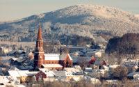 Die Stadt Zwiesel im Winter