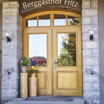 Eingangstüre von dem Berggasthof Fritz