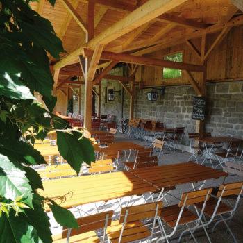 Biergarten in Teisnach