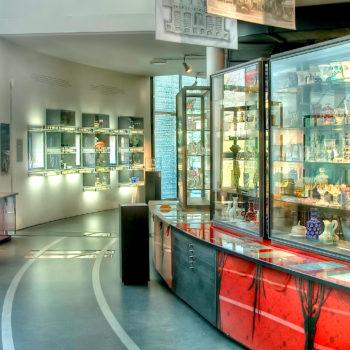 Das Innenpanorama im Glasmuseum in Frauenau