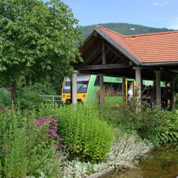 Der Bahnhof der Waldbahn in Bodenmais