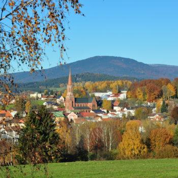 Die Stadt Zwiesel im Sommer
