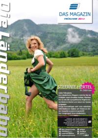 Titelseite des Kundenmagazins der Länderbahn im Frühjahr 2013