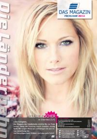 Titelseite des Kundenmagazins der Länderbahn im Frühjahr 2014