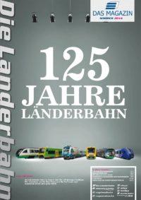 Titelseite des Kundenmagazins der Länderbahn im Sommer 2014
