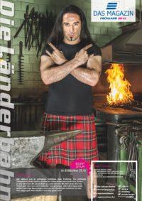 Titelseite des Kundenmagazins der Länderbahn im Frühjahr 2015