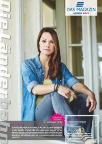 Titelseite des Kundenmagazins der Länderbahn im Herbst 2015