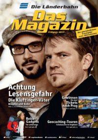 Titelseite des Kundenmagazins der Länderbahn im Frühjahr 2017