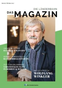 Titelseite des Kundenmagazins der Länderbahn im Herbst 2017