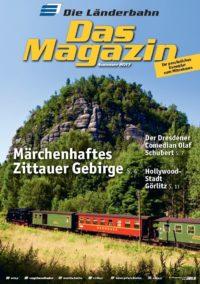 Titelseite des Kundenmagazins der Länderbahn im Sommer 2017