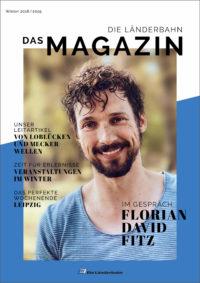Titelseite des Kundenmagazins der Länderbahn im Winter 2018/2019