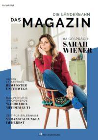 Titelseite des Kundenmagazins der Länderbahn im Herbst 2018