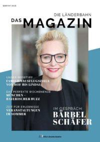 Titelseite des Kundenmagazins der Länderbahn im Sommer 2018