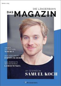 Titelseite des Kundenmagazins der Länderbahn im Herbst 2019