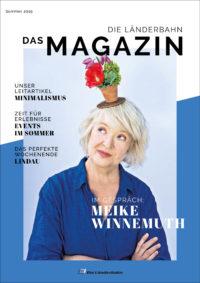 Titelseite des Kundenmagazins der Länderbahn im Sommer 2019