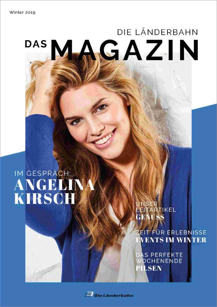 Titelseite des Kundenmagazins der Länderbahn im Winter 2019