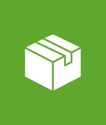 Weiße Grafik zum Flyer bestellen mit grünen Hintergrund